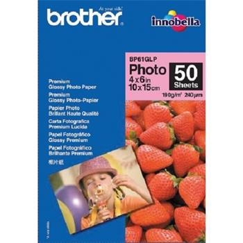 Papier Brother BP61GLP fotopapír lesklý 10x15cm, 20ks, 190g