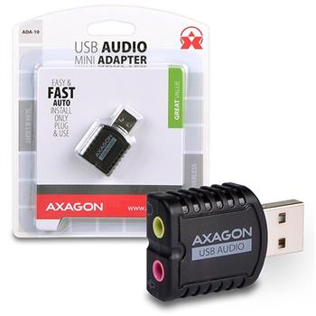 Adaptér Axago USB2.0 - stereo audio MINI