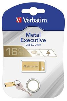 Flashdisk Verbatim Metal Executive USB 3.0 Drive 16GB Zlatý