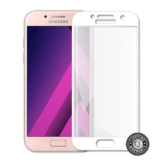 Tvrdené sklo Screenshield full COVER WHITE metalic pro Samsung A320 Galaxy A3 2017