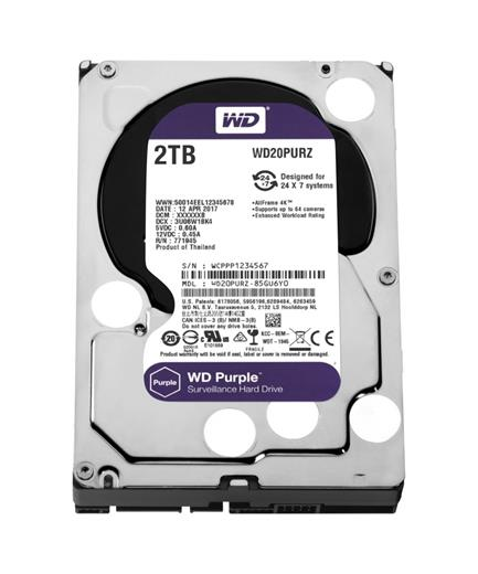 Disk Western Digital Purple 2TB, 3,5