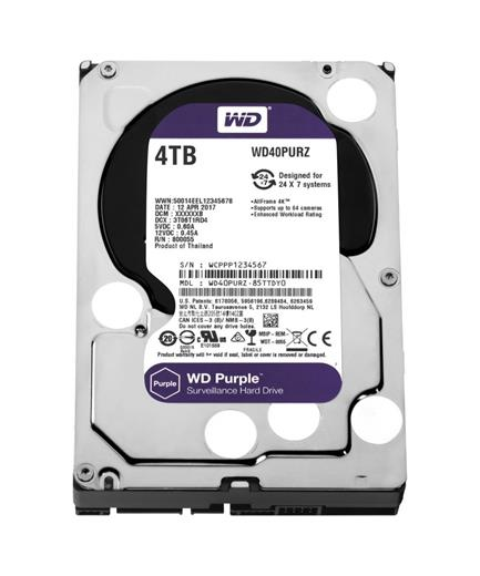 Disk Western Digital Purple 4TB, 3,5