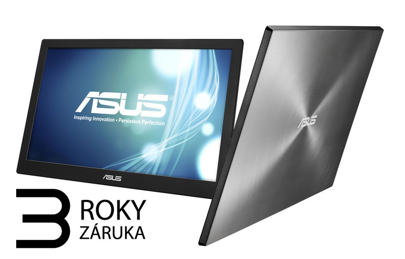 Monitor Asus MB168B 15,6' HD TN, 16:9, USB 3.0, přenosný