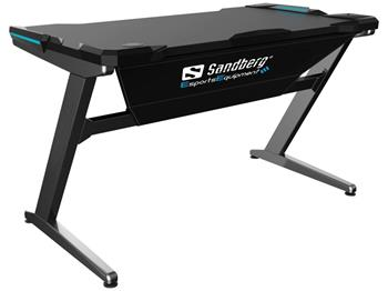 Herný stôl Sandberg Fighter Gaming Desk šedý