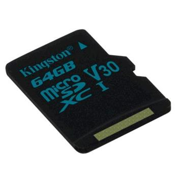 Pamäťová karta Kingston microSDXC Canvas Go UHS-I U3 V30 64GB, 90R/45W