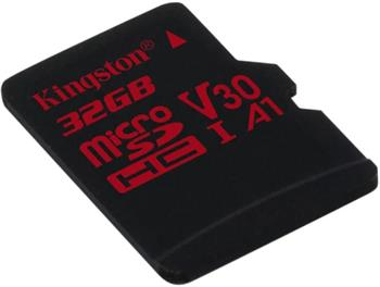 Pamäťová karta Kingston microSDXC Canvas React U3 V30 64GB, 100R/70W