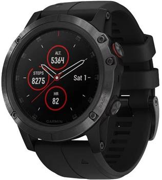 Hodinky Garmin fenix5X Plus Sapphire Black Optic, Black band