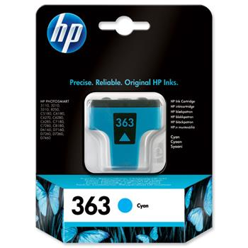 Atrament HP Ink No 363 azurová, C8771EE