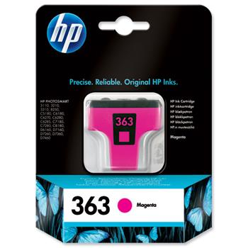 Atrament HP Ink No 363 purpurová, C8772EE