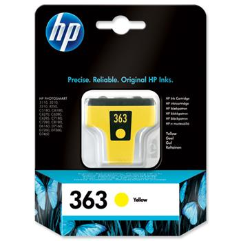 Atrament HP Ink No 363 žlutá, C8773EE