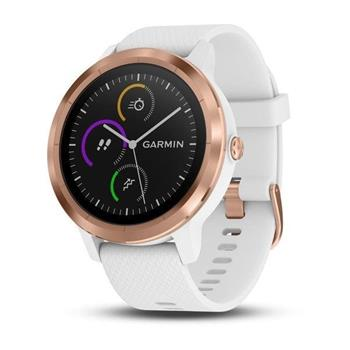 Hodinky Garmin vívoActive3 Optic Rose Gold, White band
