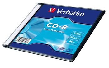 Médium Verbatim CD-R 700MB 80min 52x Extra Protection slim