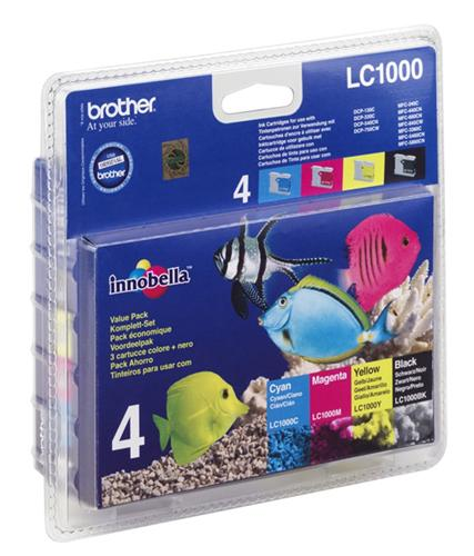 Atrament Brother ink LC-1000 VALBP multipack černá+C+M+Y