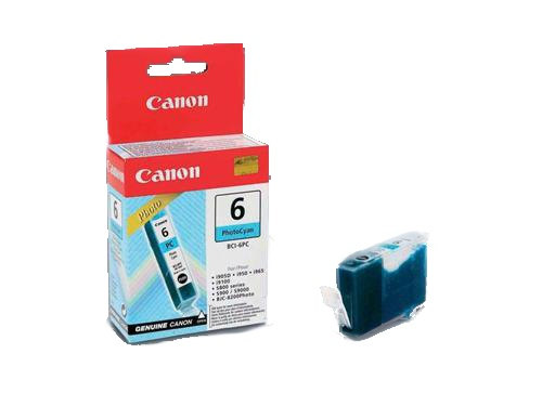Atrament Canon Ink BCI-6PC foto azurový (BCI6PC photo cyan)