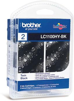 Atrament Brother Ink LC-1100 BKBP2 multipack 2x černá