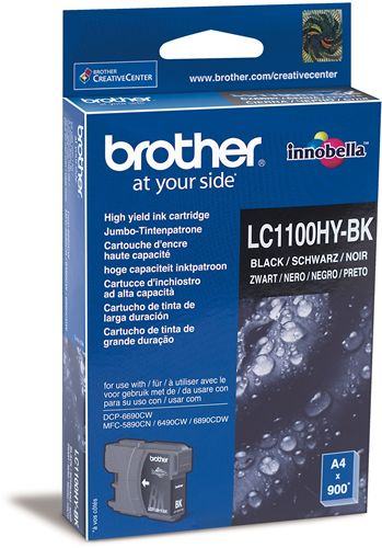 Atrament Brother Ink LC-1100HYBK černý