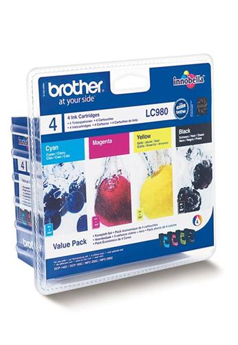 Atrament Brother Ink LC-980 VALBP multipack černá+C+M+Y