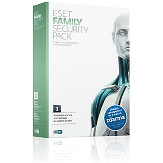 Software Eset Family Security pack 3 licence, 1rok - elektronicky