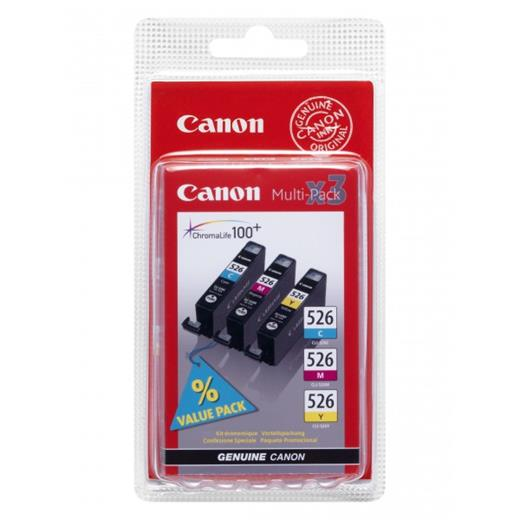 Atrament Canon cartridge CLI-526 C/M/Y Pack (CLI526CMY)