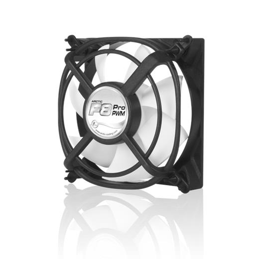 Ventilátor Arctic Cooling Fan F8 Pro PWM 80x80, 0.3 sone, 500-2000 r.p.m.