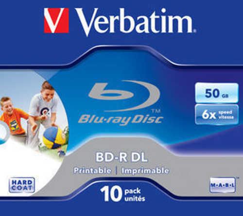 Médium Verbatim BD-R DL 50GB 6x WIDE PRINTABLE BOX 10pck/BAL