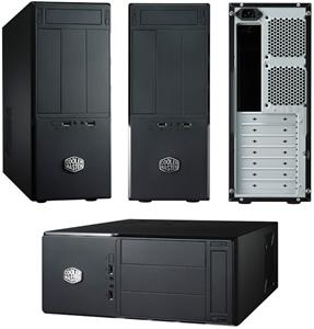 Case CoolerMaster Elite 361 mATX, black, bez zdroje