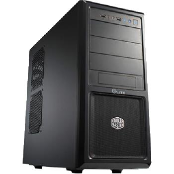 Case CoolerMaster Elite 370 ATX, black, bez zdroje