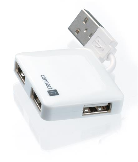USB hub Connect IT se 4 porty white