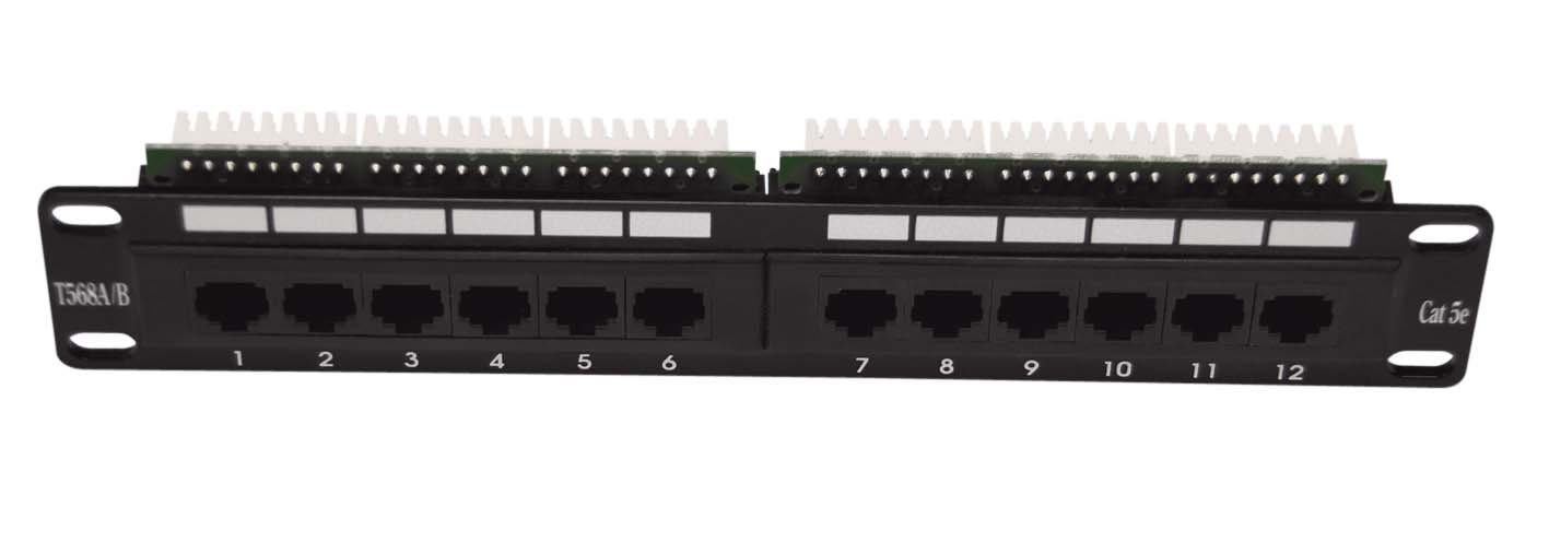 Patch panel LEXI-Net 12 port Cat. 5e UTP 1U/10