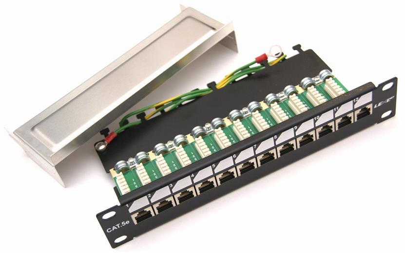 Patch panel LEXI-Net 12 port Cat. 5e STP 1U/10
