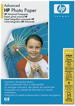 Papier HP Advanced Photo Paper 10x15cm, lesk, 60ks, 250g/m2