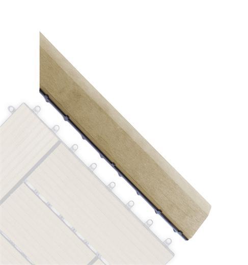 Prechodová lišta G21 pre WPC dlaždice Cumaru pro WPC dlaždice, 38,5 x 7,5 cm rohová (pravá)