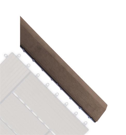 Prechodová lišta G21 pre WPC dlaždice indický teak pro WPC dlaždice, 38,5 x 7,5 cm rohová (pravá)