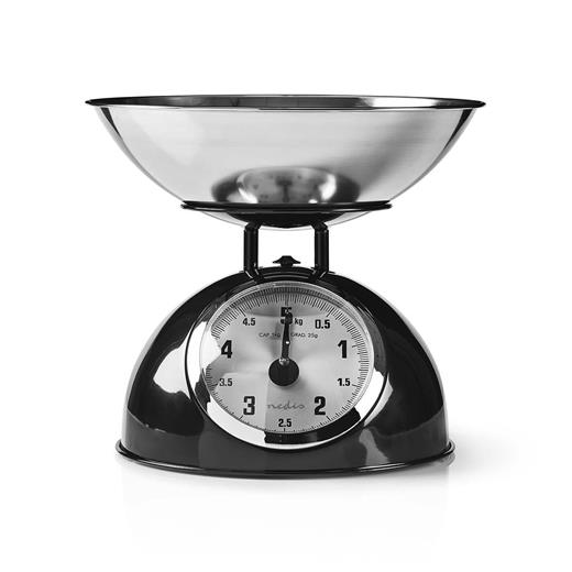 Kuchynská váha KÖNIG retro, čierná