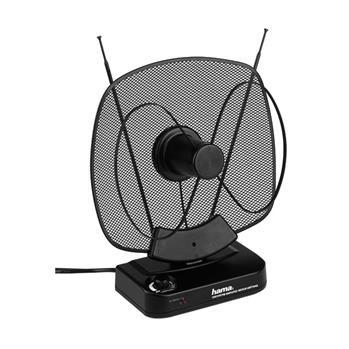 Anténa Hama aktivní pokojová VHF/UHF/FM, 40dB, černá