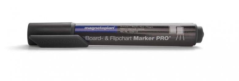 Popisovač Magnetoplanna bielu tabuľu alebo flipchart papier, čierny, 4ks