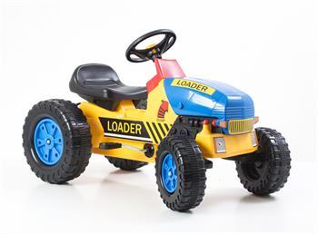 Šliapací traktor G21 Classic žluto/modrý