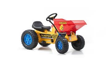 Šliapací traktor G21 Classic s čelním nosičem žluto/modrý