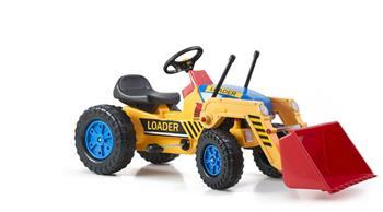 Šliapací traktor G21 Classic s nakladačem žluto/modrý