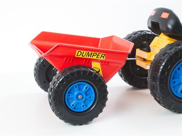 Príslušenstvo G21 vlečka k šlapacímu traktoru červená