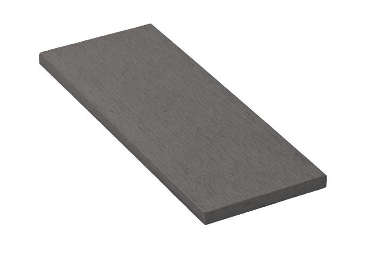 Zakončovacia lišta G21 Incana plochá 0,9 x 9 x 200 cm, Incana mat. WPC