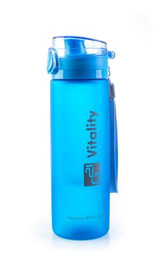 Fľaška G21 na smoothie/juice, 650 ml, modrá-zmrzlá