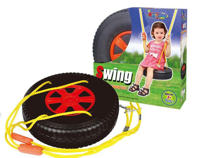 Hračka G21 Hojdačka pneumatika okrúhla čierno-červená