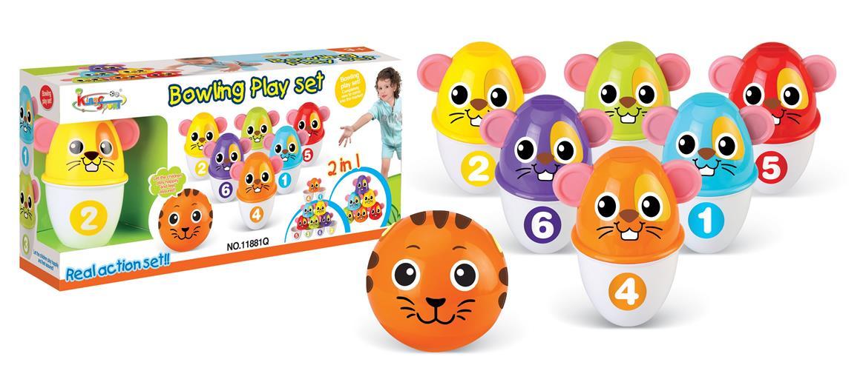 Hračka G21 Kolky s guľou farebné myšky