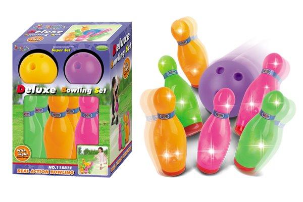 Hračka G21 Kolky s guľou farebné, svietiace