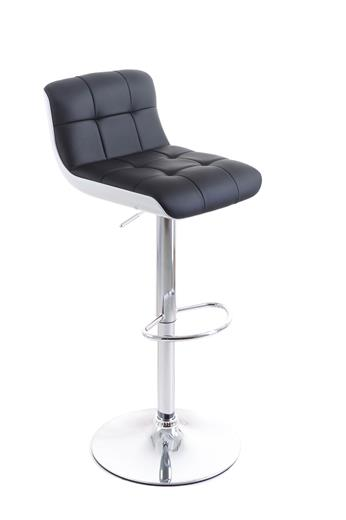 Barová stolička G21 Treama koženková black / white