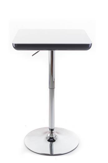 Barový stolík G21 Whieta plastový white/black