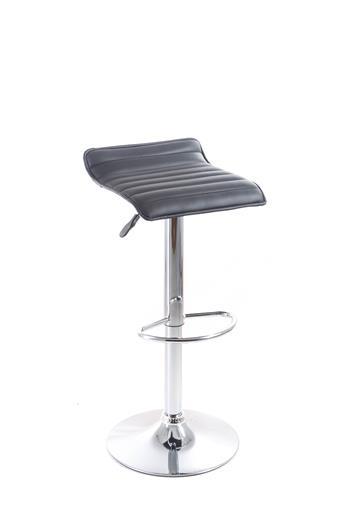 Barová stolička G21 Fate koženková, prešívaná koženková, prošívaná black