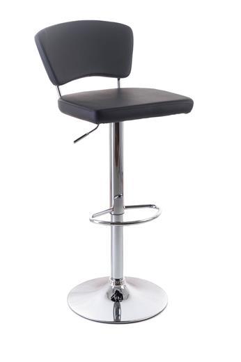 Barová stolička G21 Redan koženková s operadlom koženková s opěradlem black