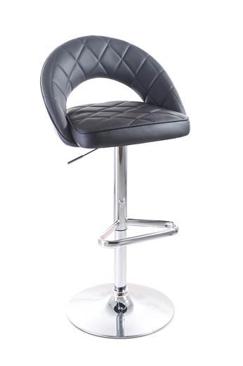 Barová stolička G21 Victea koženková, prešívaná black